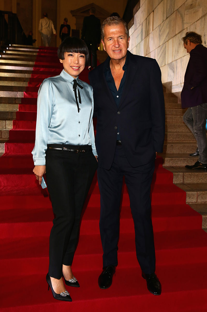 Angelica Cheung, Editor Vogue China with fashion photographer Mario Testino.