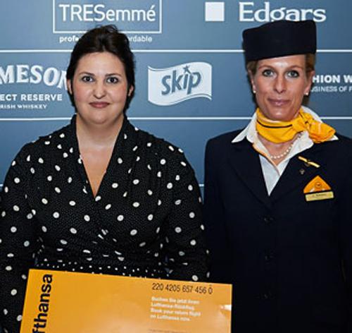 Claire Mackenzie Flies High with Lufthansa