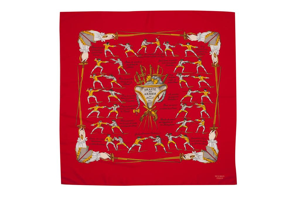 Hermes silk scarf.