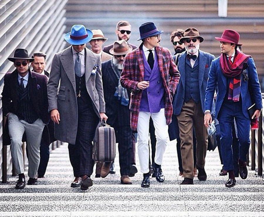 Stepping out in style at Pitti  Uomo, Florence, Italy.